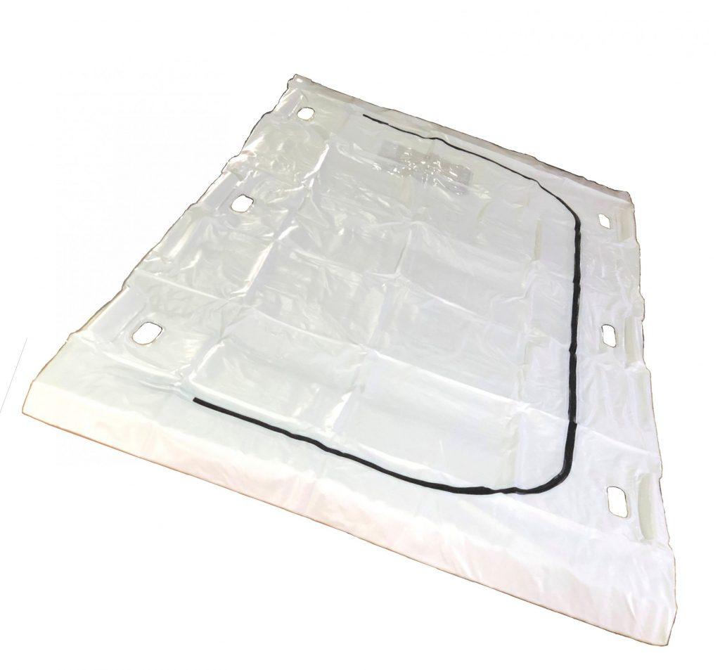 White PVC U-Shape Zipper Closure Body Bag